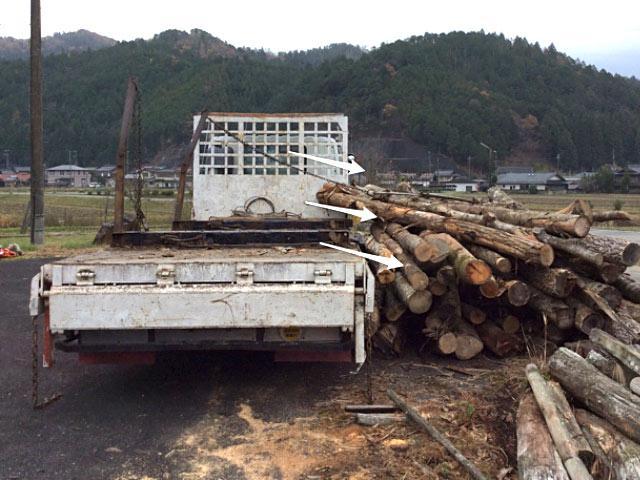 伐ってほったらかしは、木がもったいないので搬出できる分は対応