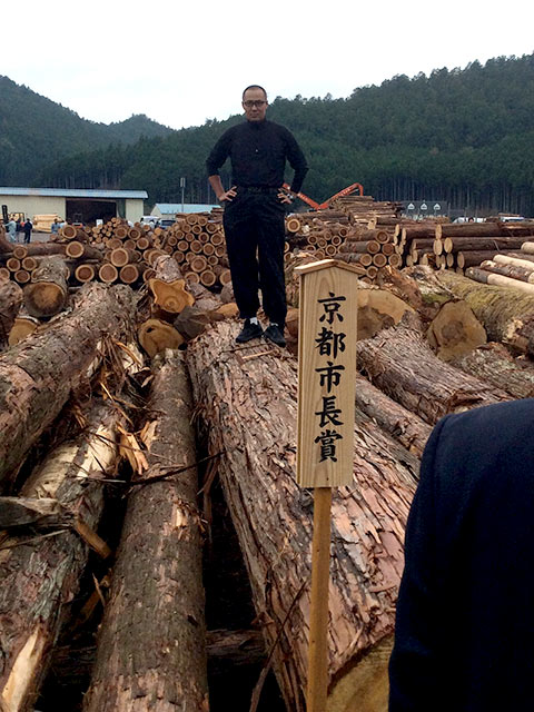 形見の木が京都市長賞を受賞した