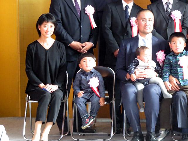 京都府農林水産フェスティバル表彰式典に家族で出席しました