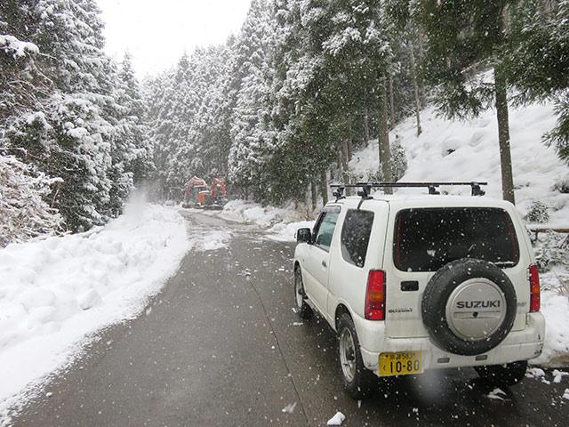 林業をする者にとって雪は本当に迷惑な存在