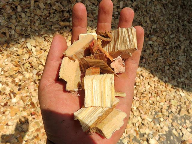 木材をチップにして再利用するしかない