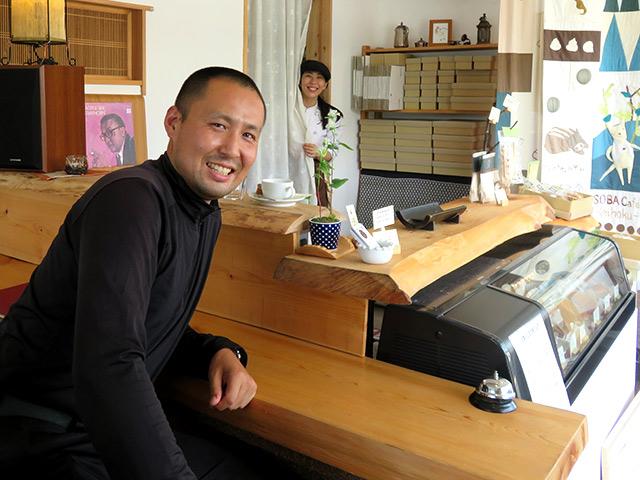 SOBA Café さらざん 店長の橋本さんと一緒に
