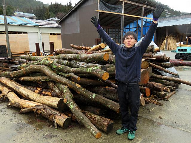 四辻木材のスタッフの谷口くん