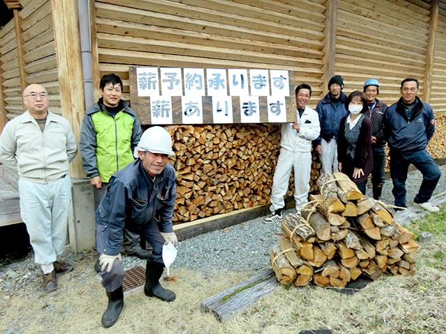 原木市場の新サービス薪の販売を紹介します