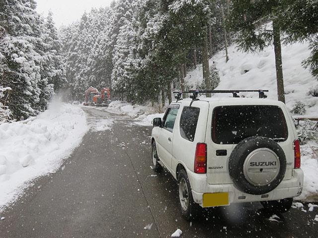 車高が高いので雪道にも強い