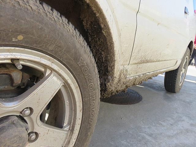 泥はねしてもかっこいいジムニー