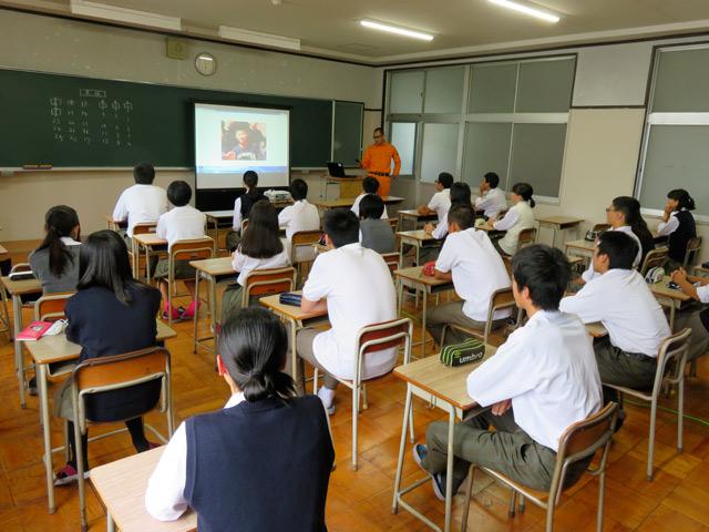 北桑田高校で授業をさせていただきました