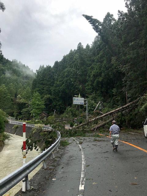 ライフラインである京都市内〜京北〜南丹市美山町を結ぶ国道162号線は2週間近く止まってしまいました。