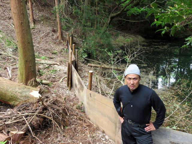 防護木塀を設置