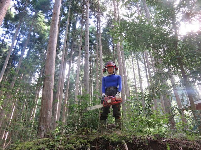 京都府立林業大学校のインターンシップを受け入れ無事に研修期間が終了しました!