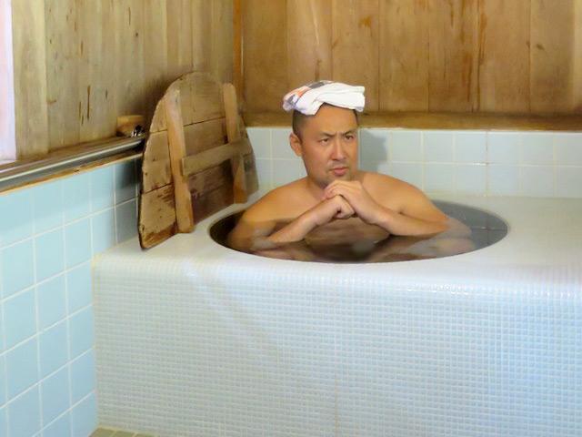 お宿の最大の特徴はその名の通り五右衛門風呂!