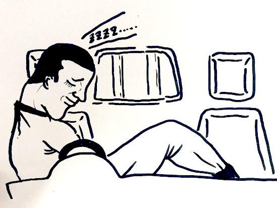器用な人はこのようにして寝ます。